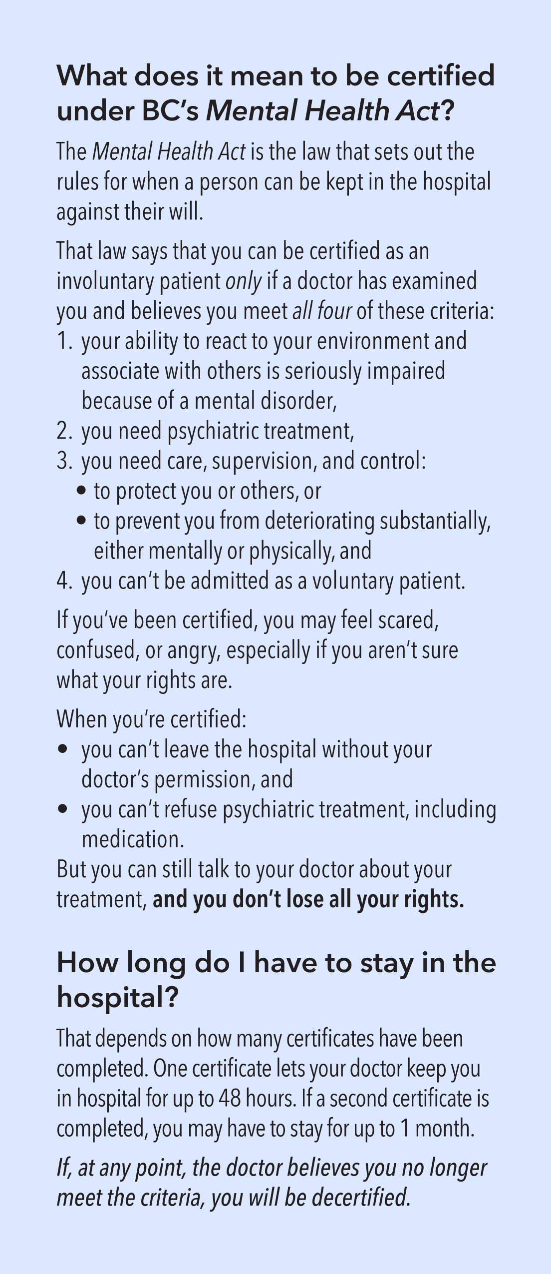 photo about The Doctor's Opinion Printable named Pamphlet BC Psychological Conditioning Legal rights